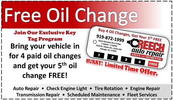 Car oil coupons