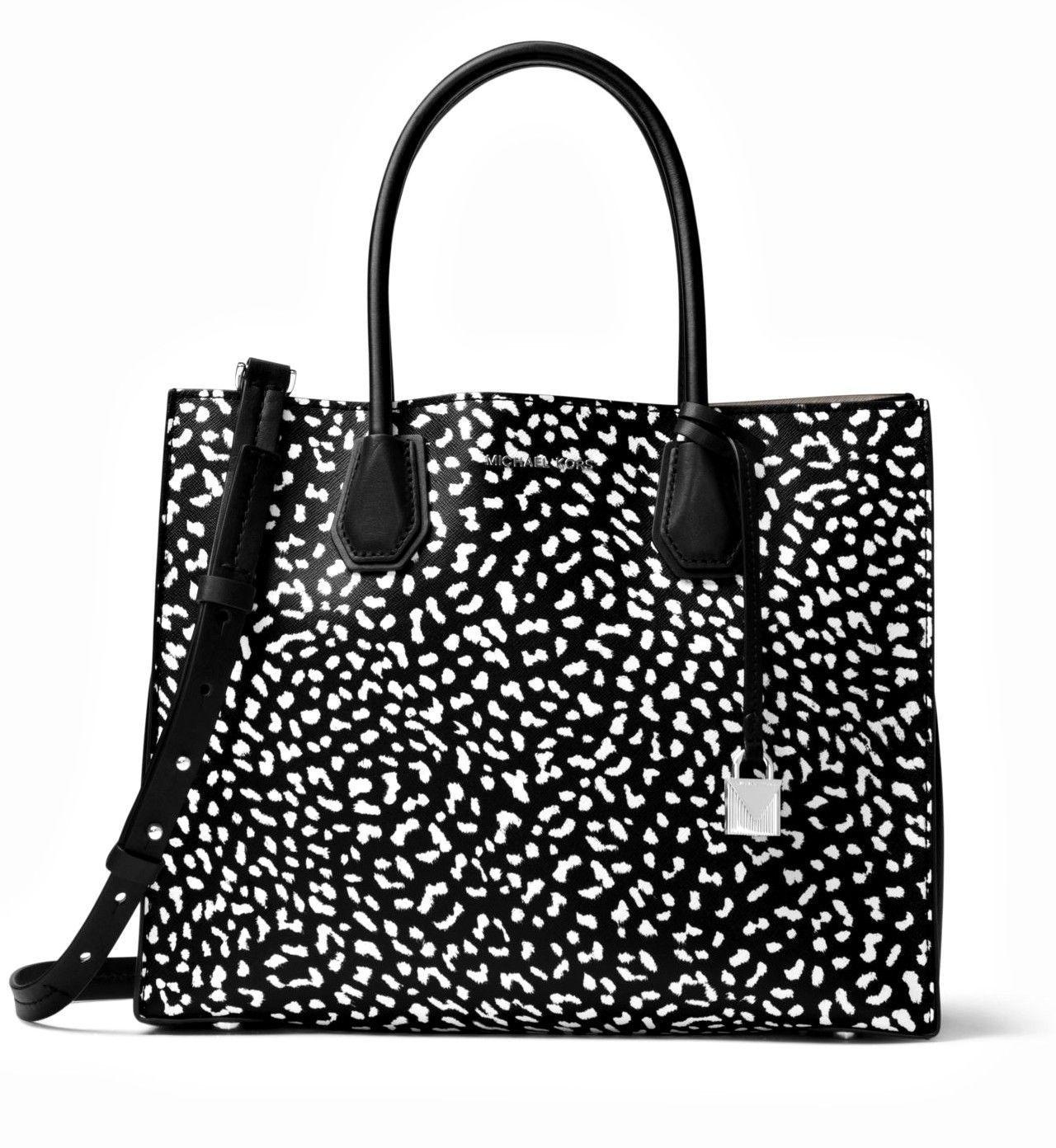 bdbbc822d314 Michael Kors Mercer Medium Messenger Purse - Black & Multicolor Star Design  Purse with Star Burst Rainbow Colorful Star Cutout MK Tote Bag | Baggage.