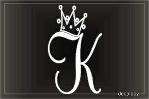 Letter K With A Crown