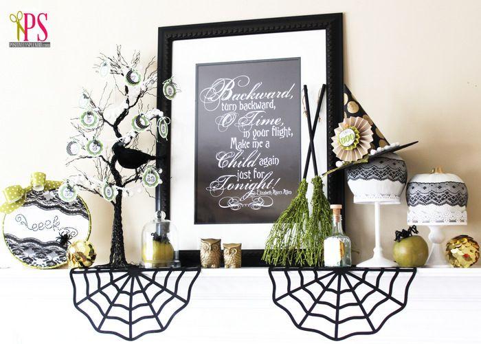 Halloween Mantel Mantels, Holidays halloween and Halloween ideas