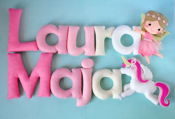 Felt baby name , nursery decor, Personalized Baby Nursery Name Wall Decor garland ( Price per one letter)