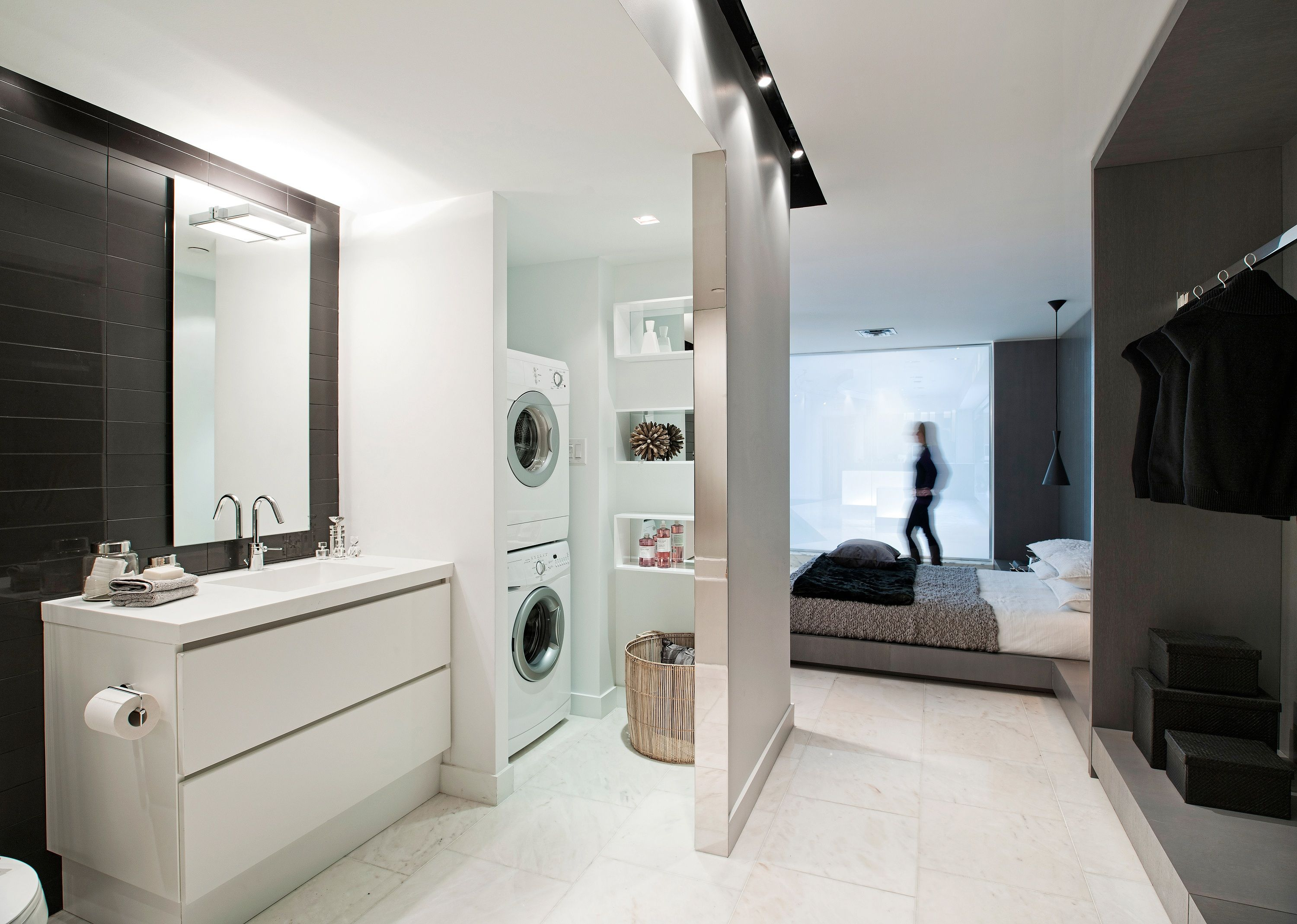 Bathroom and laundry room ideas - Ensuite In Laundry Perfect For Small Laundry Spaces