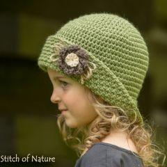 8c270dddca7 The Peoria Vintage Cloche Hat crochet pattern by Stitch of Nature ...