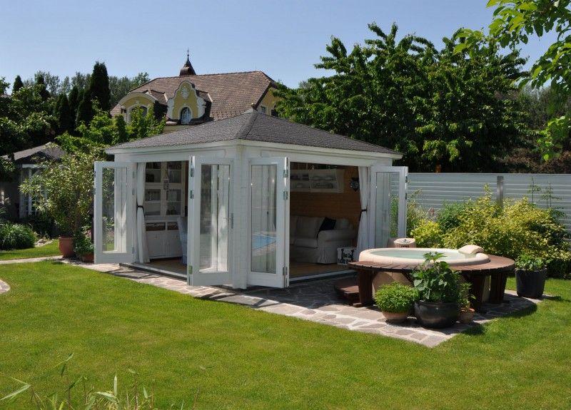 pool gartenhaus. Black Bedroom Furniture Sets. Home Design Ideas