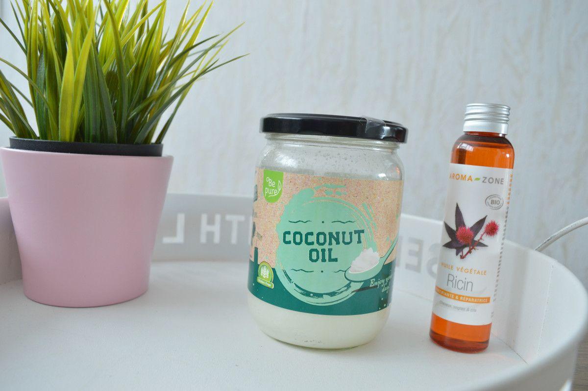 Masque pour la croissance et la beauté des cheveux - Recette simple : huile de ricin, huile de coco