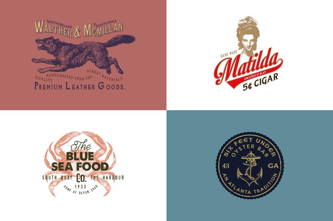 32 Vintage Logo Templates (Vol. 2) by Liviu on @creativemarket ...