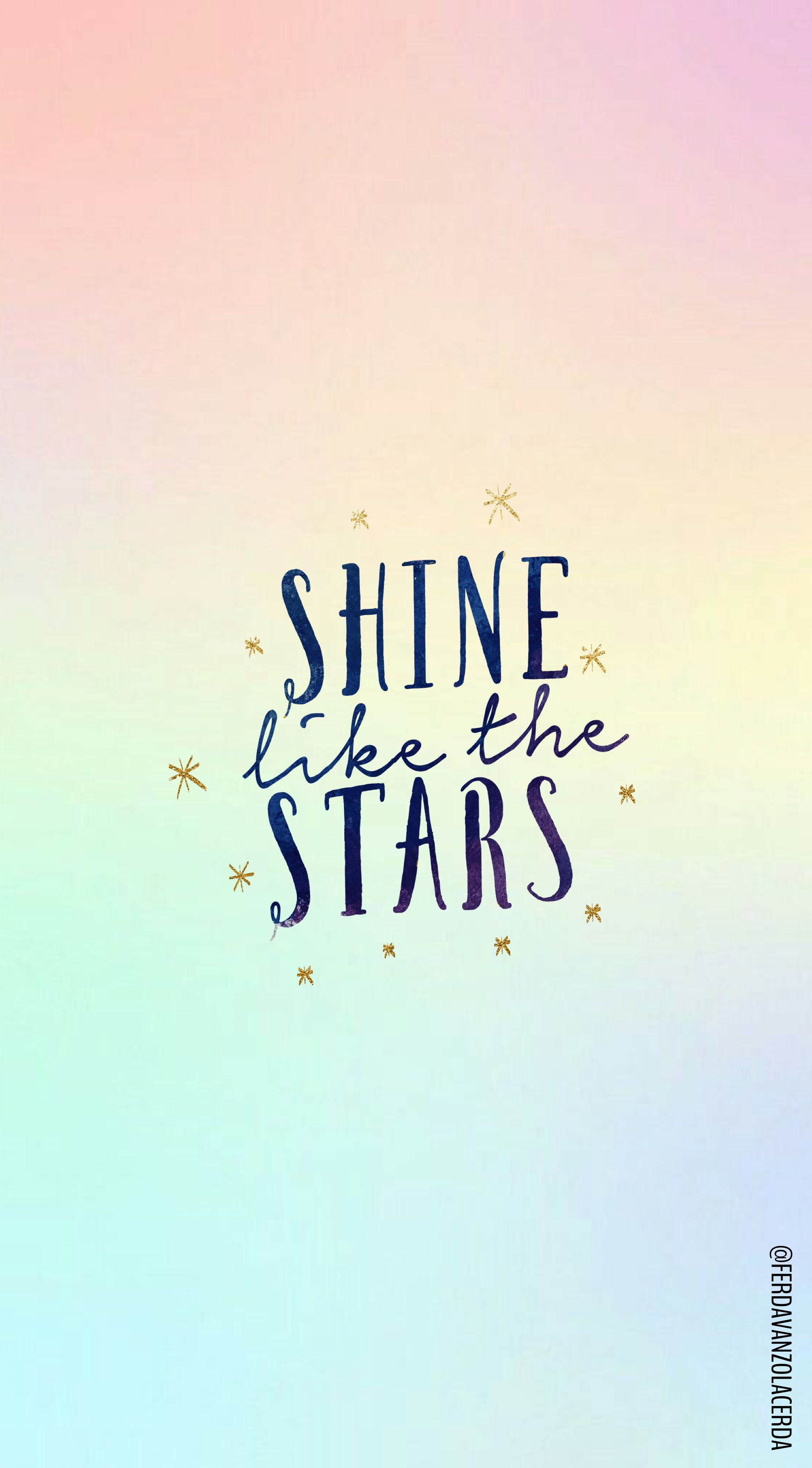 Shine Like The Stars Quote Frases Iphone