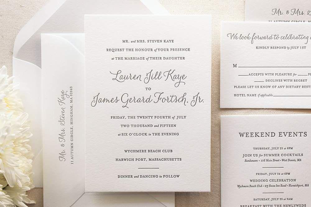 Proper Wedding Invitation Wording Etiquette Examples Bridal