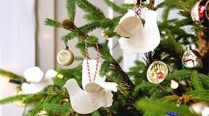 Genial Make Paper Dove Christmas Tree Decorations