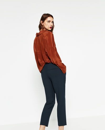 Image 3 of MASCULINE CARROT TROUSERS from Zara