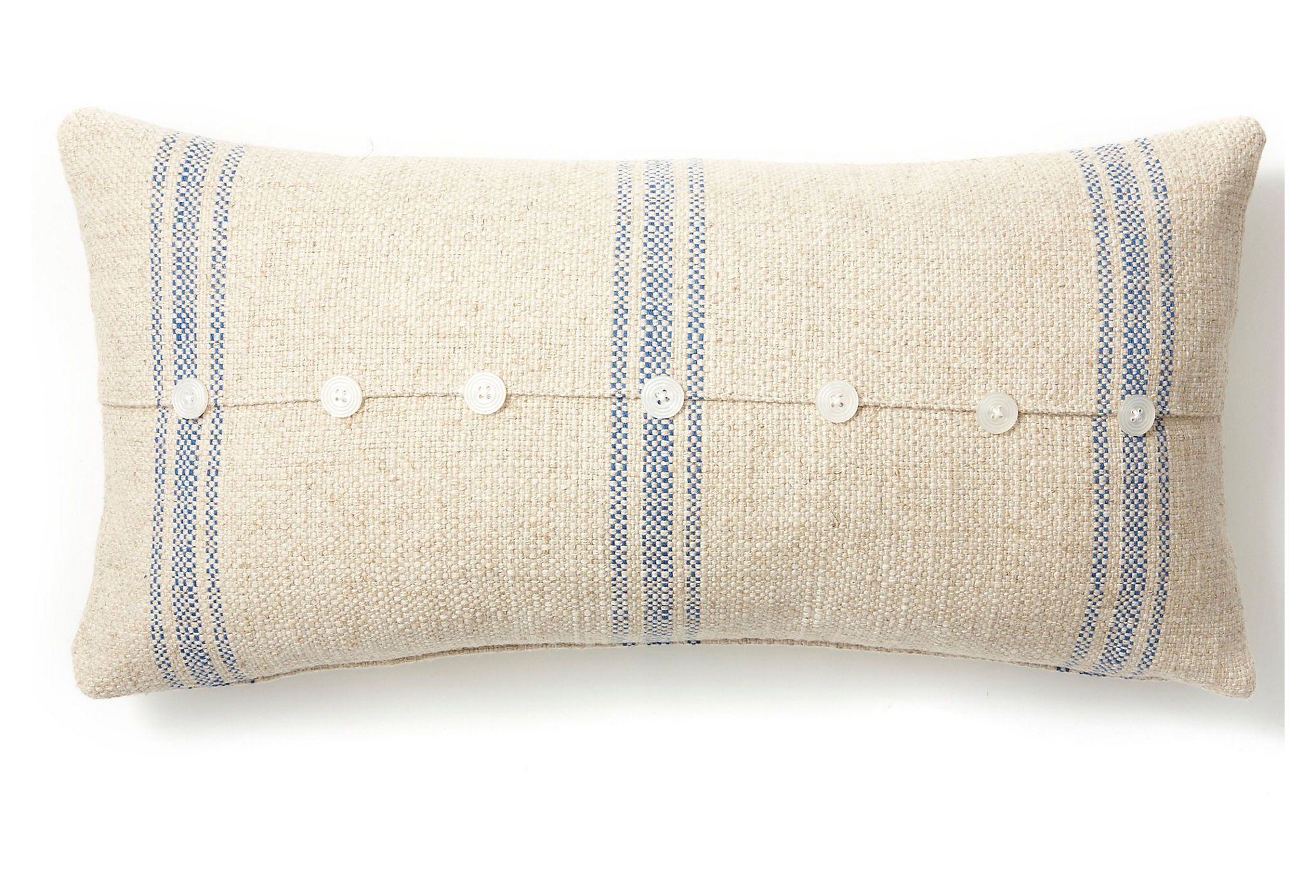 Button x linenblended pillow blue one kings lane interior