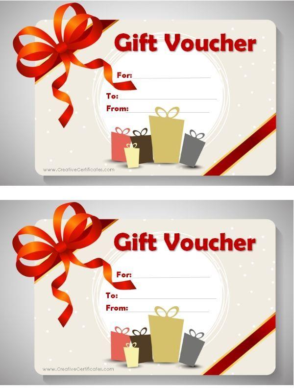 free printable gift voucher template gift certificates pinterest