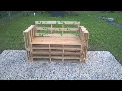 Fabriquer Un Banc En Palettes Youtube Agrement De Jardin Table Salon De Jardin Et Coffre De Jardin