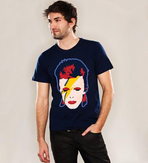 Reverbcity Shop - Camisetas/T-shirts Bowie - Azul Marinho