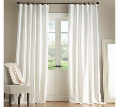 Living Rooms Dupioni Silk Pole Pocket Drape