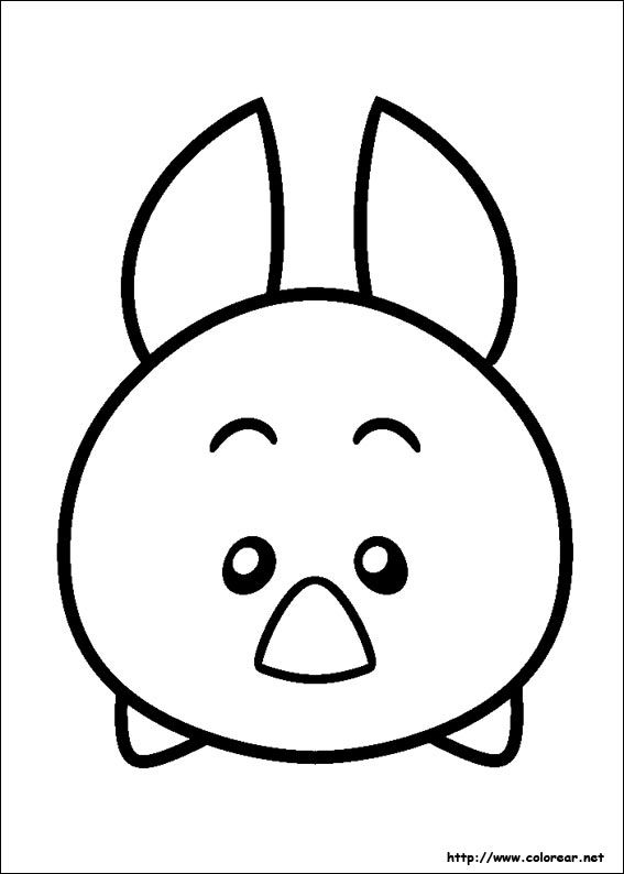 Dibujo De Para Imprimir Kawaii Tsum Tsum Para Colorear