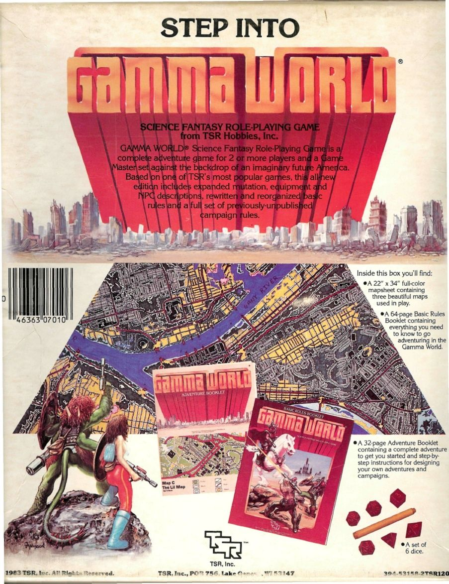 Back of Gamma World 2e box  | Tabletop Games | Fantasy rpg, Tabletop