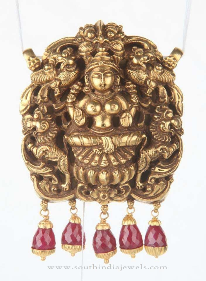 Gold temple pendant for chains temple chains and pendants gold temple pendant for chains south india jewels mozeypictures Choice Image