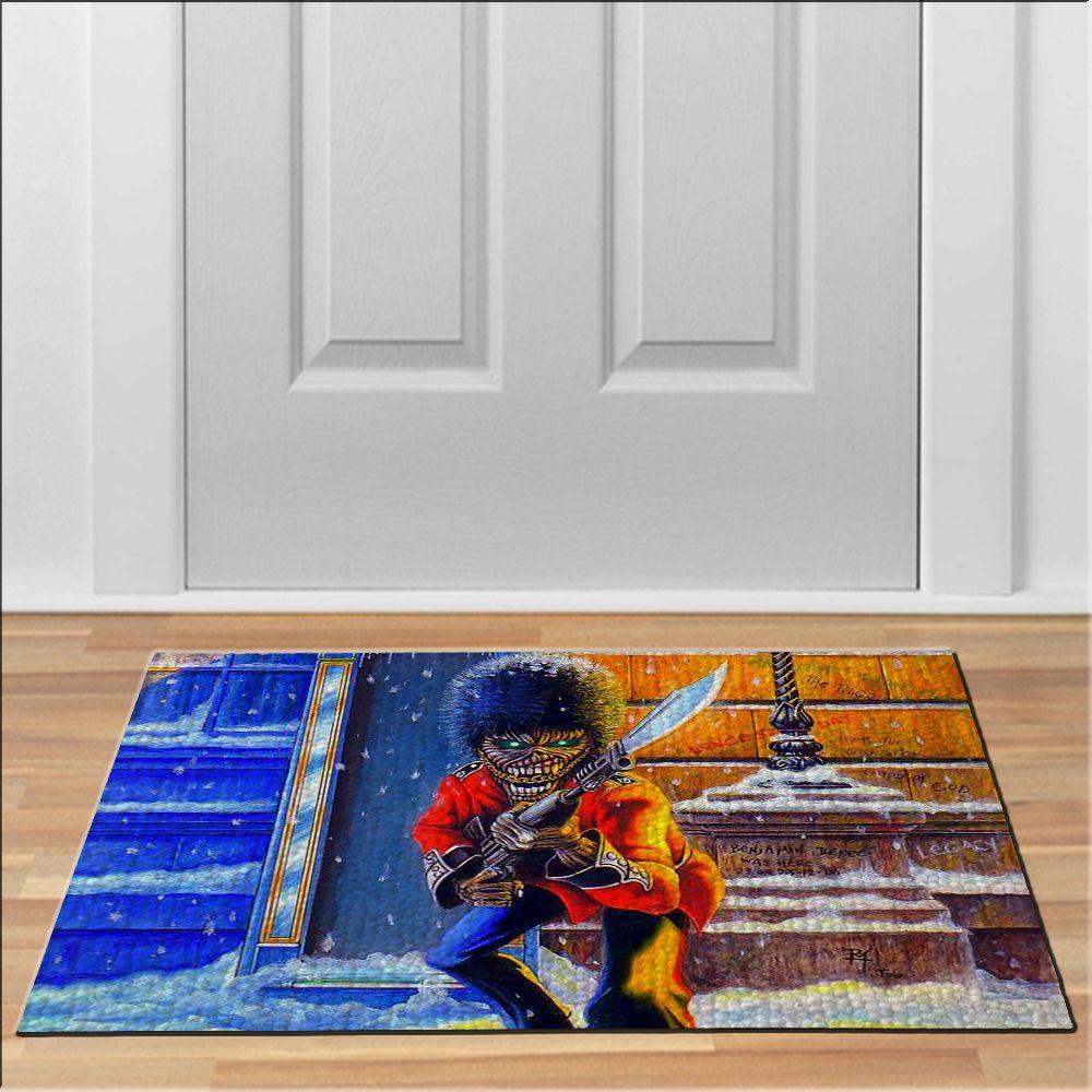cool iron maiden guard Doormat Rock Heavy Metal Band Floor Durable ...