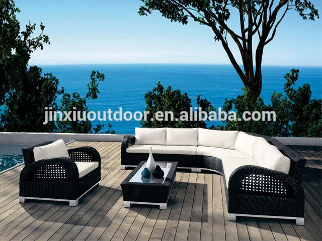 Viro mimbre de ratán sintético muebles al aire libre de lujo JX-362 ...