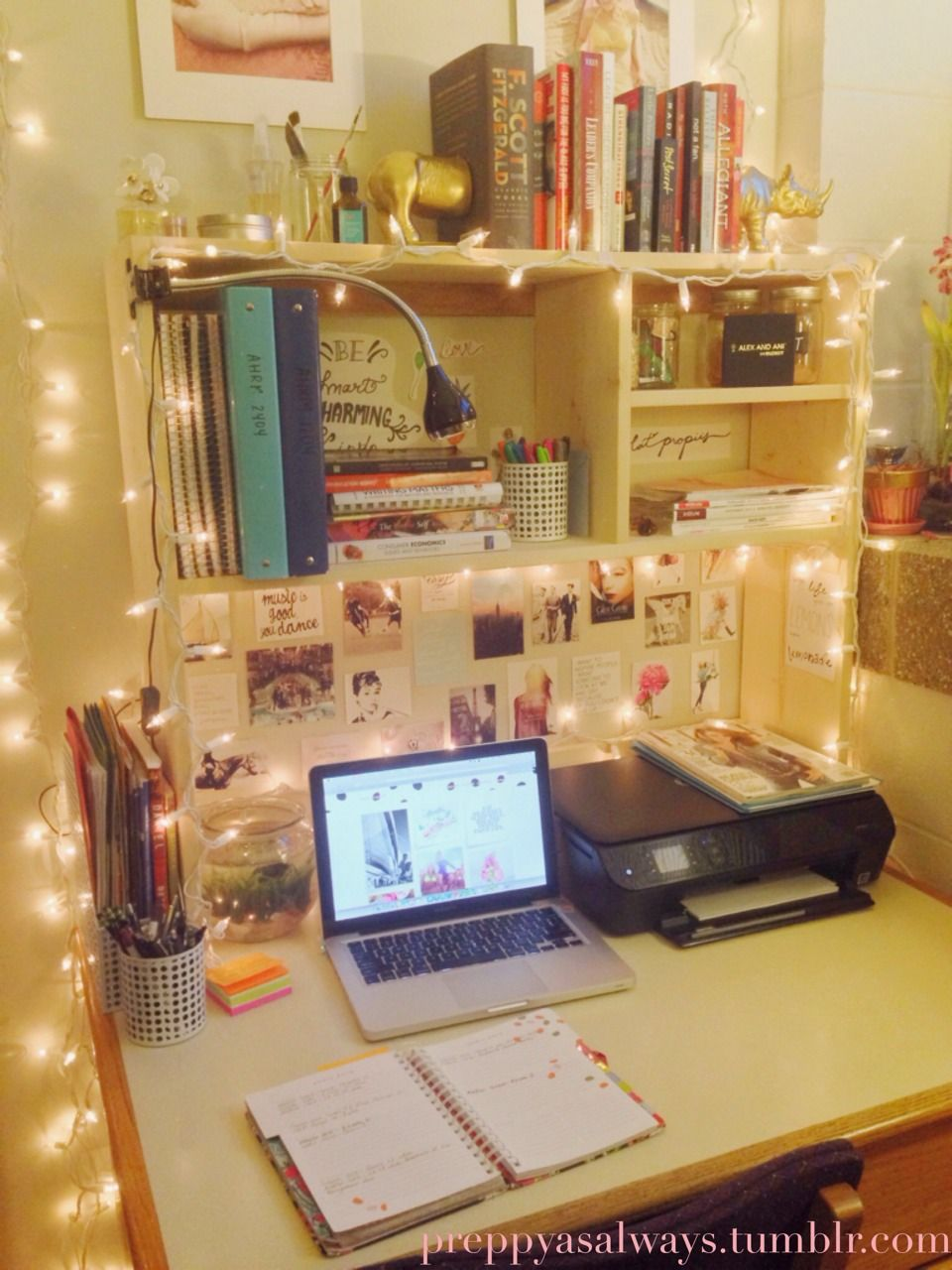 """11 Ways To Make The Most Of Your Dorm Room: Preppyasalways: """" I Just Really Love My Dorm Room"""