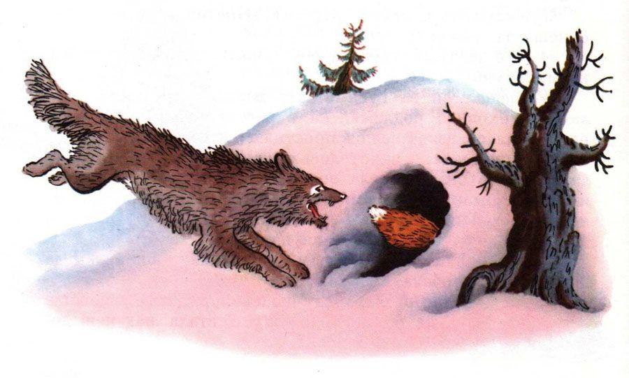 Иллюстрации к сказке лиса лапотница