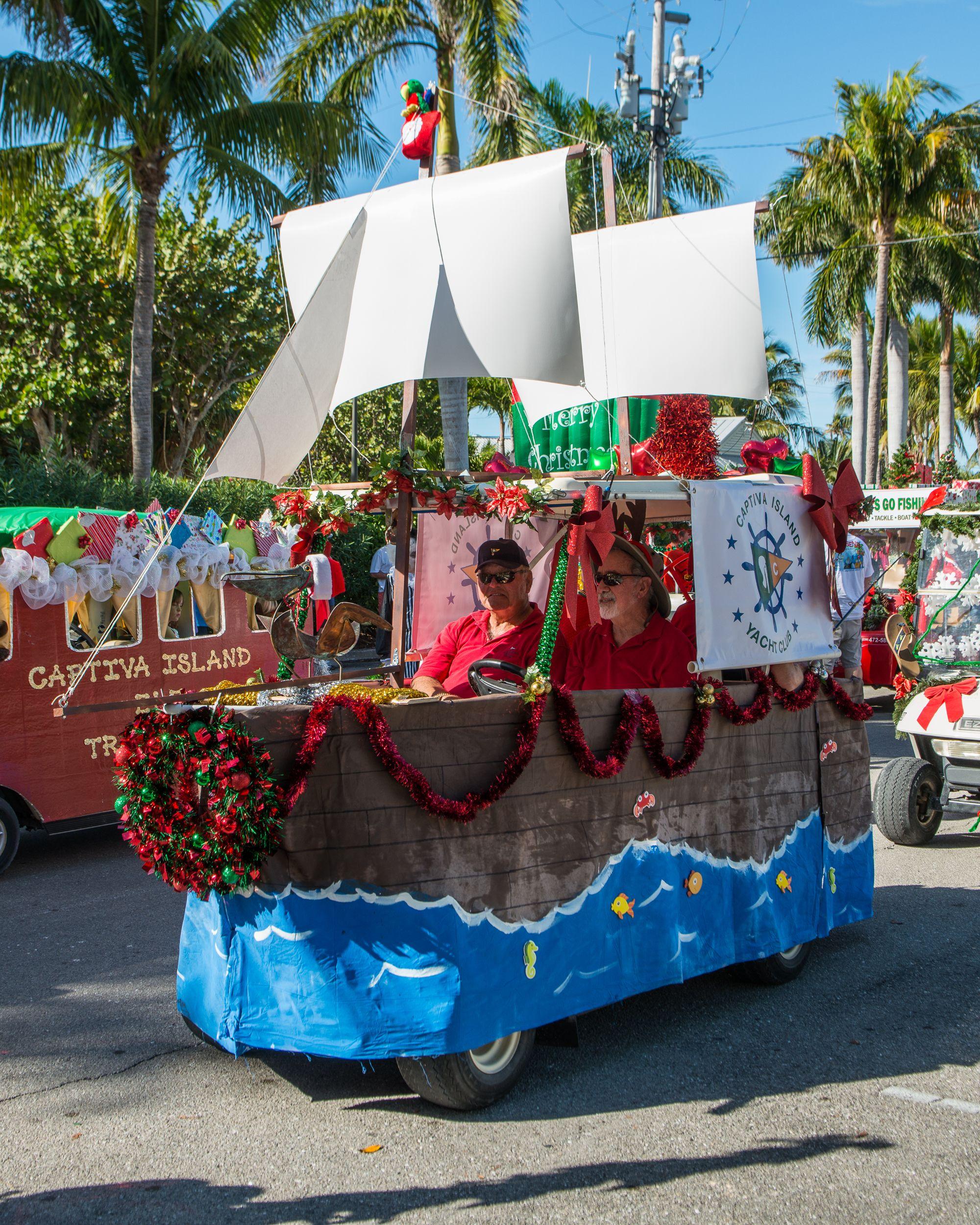 Float Decorations: Captiva Golf Cart Parade