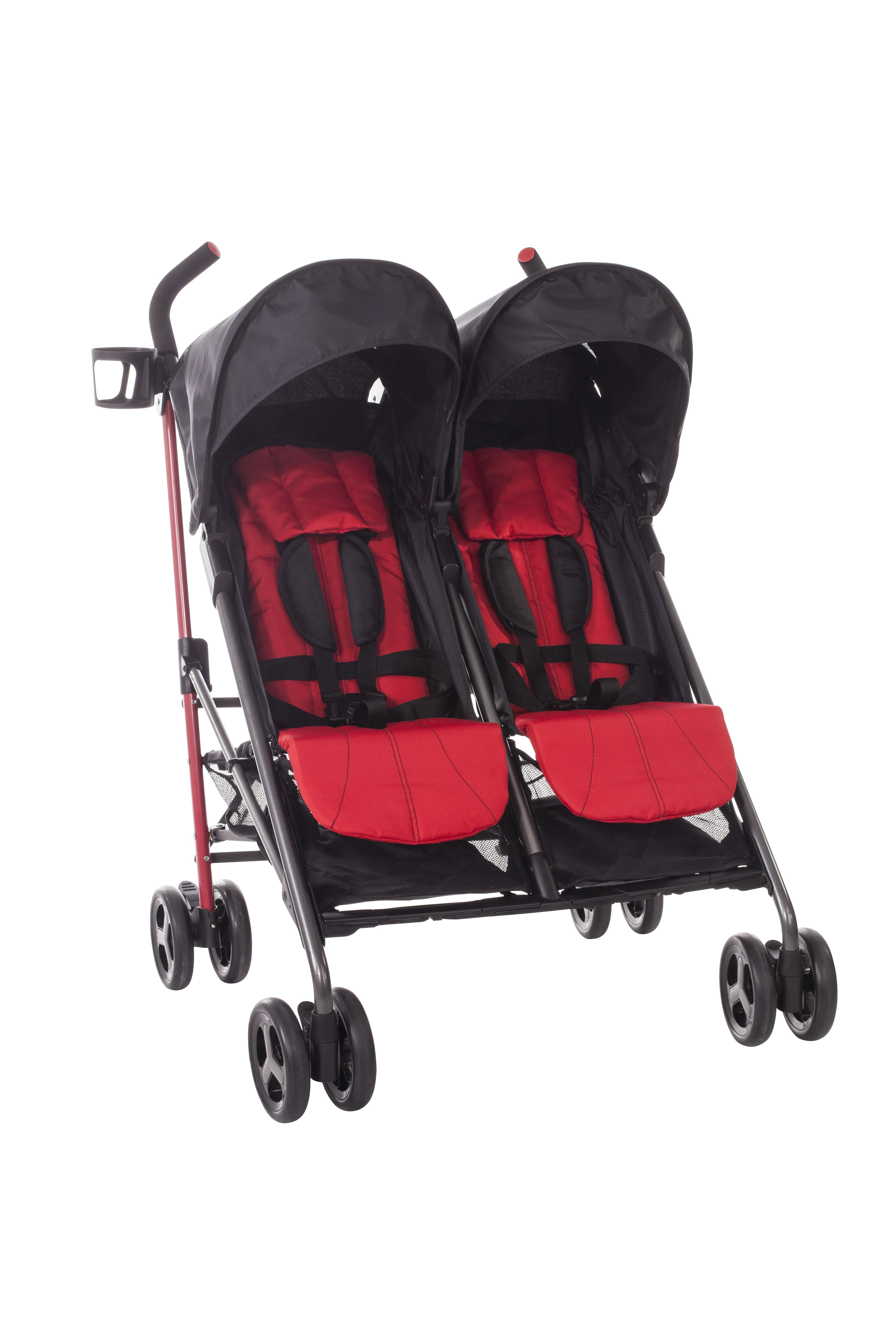 Babies R Us Zobo 2x Side By Side Stroller, Cherry Reviews 2021