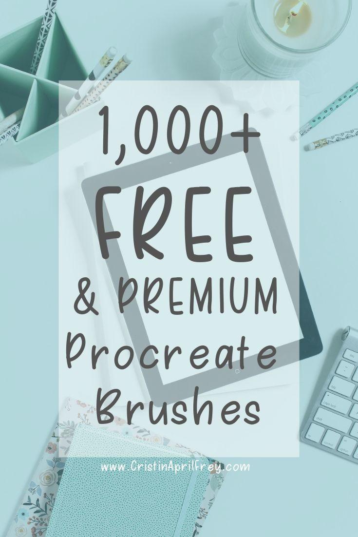 1,000+ Premium and Free Procreate Brushes