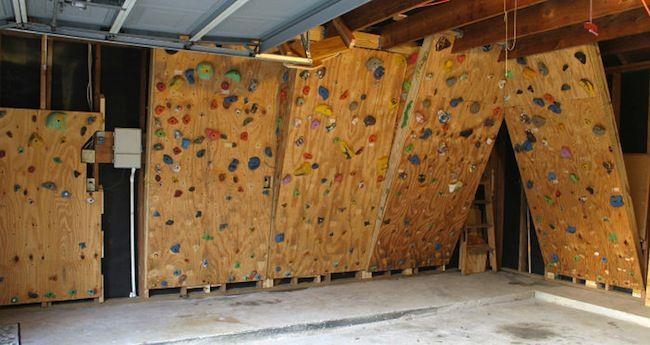 diy climbing wall - Home Rock Climbing Wall Design