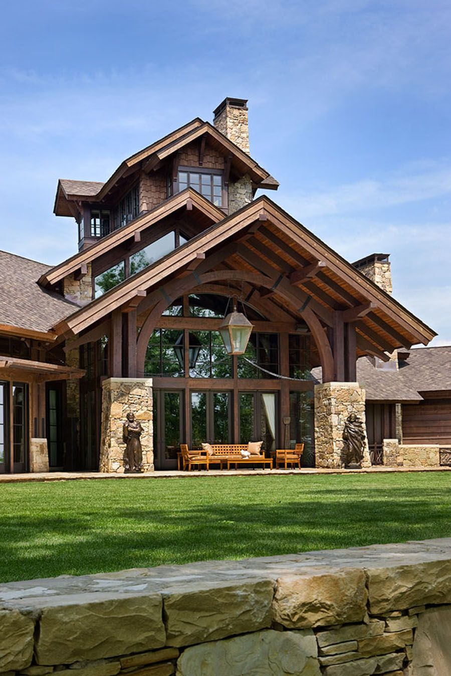 Turner residence tennessee timber frame homes heavy for Timber frame homes pictures