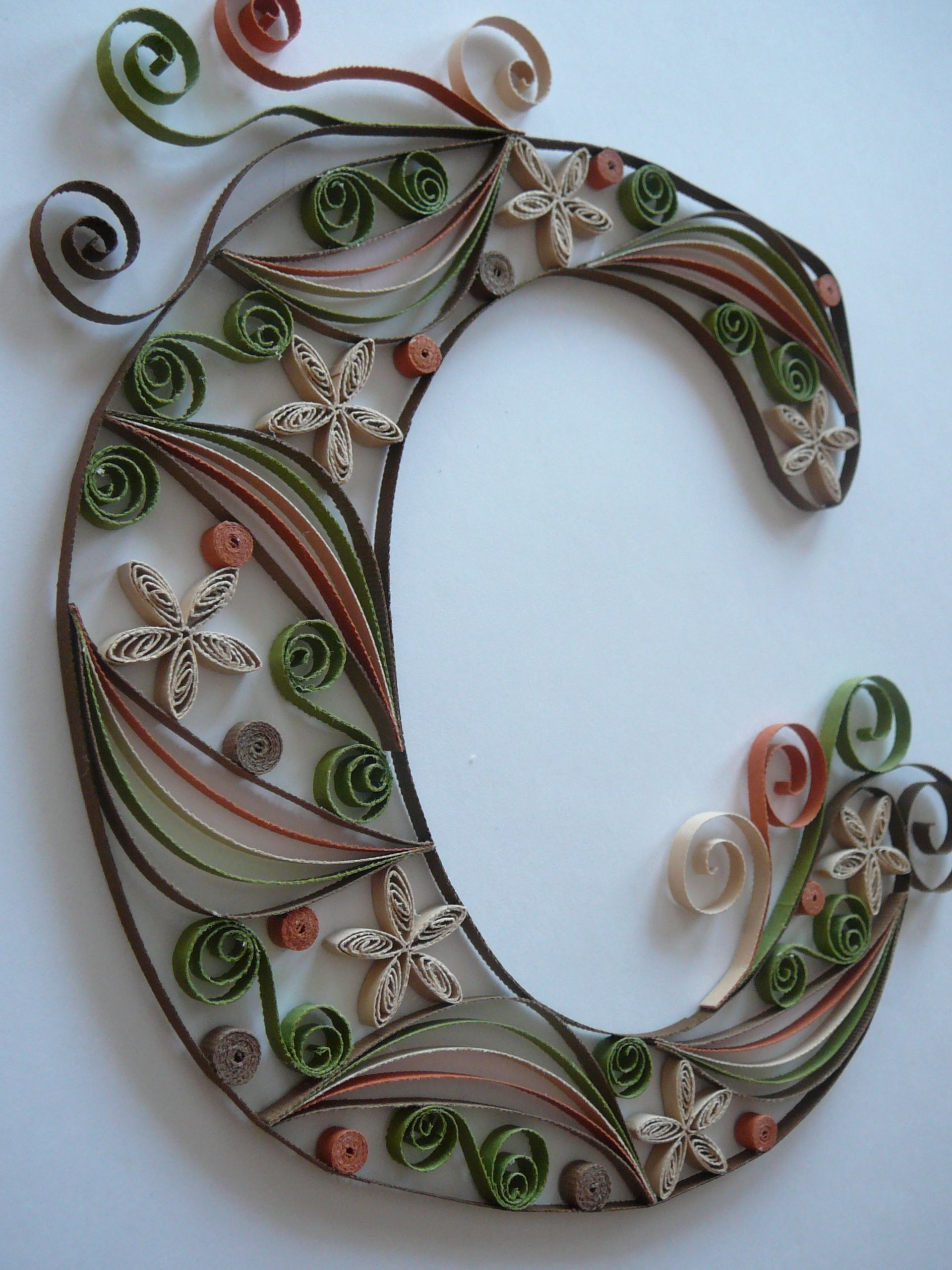 Paper Quilled Monogram Letter