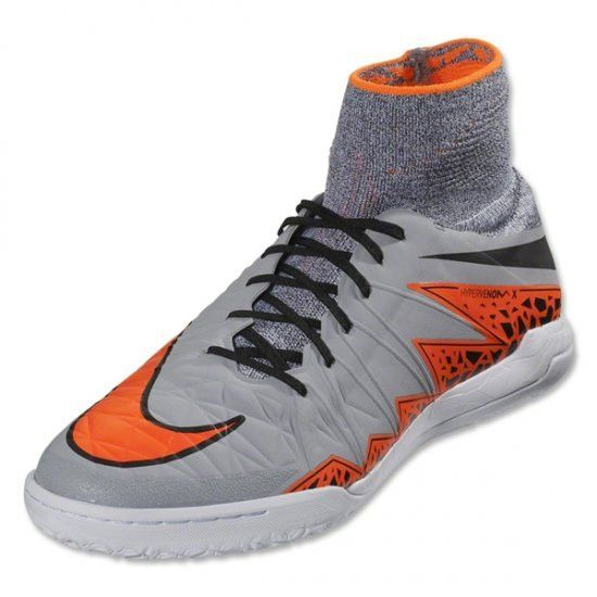 Nike Hypervenom Proximo Indoor Soccer Shoes Wolf Grey Orange Best Soccer Shoes Soccer Shoes Cool Football Boots