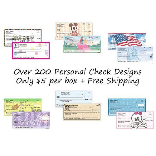 Personal Checks 5 49 Per Box Free Shipping Personal Checks Cheque Design Cheap Checks