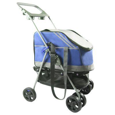 Pet Life Outdoors Convertible Pet Stroller Color: Blue