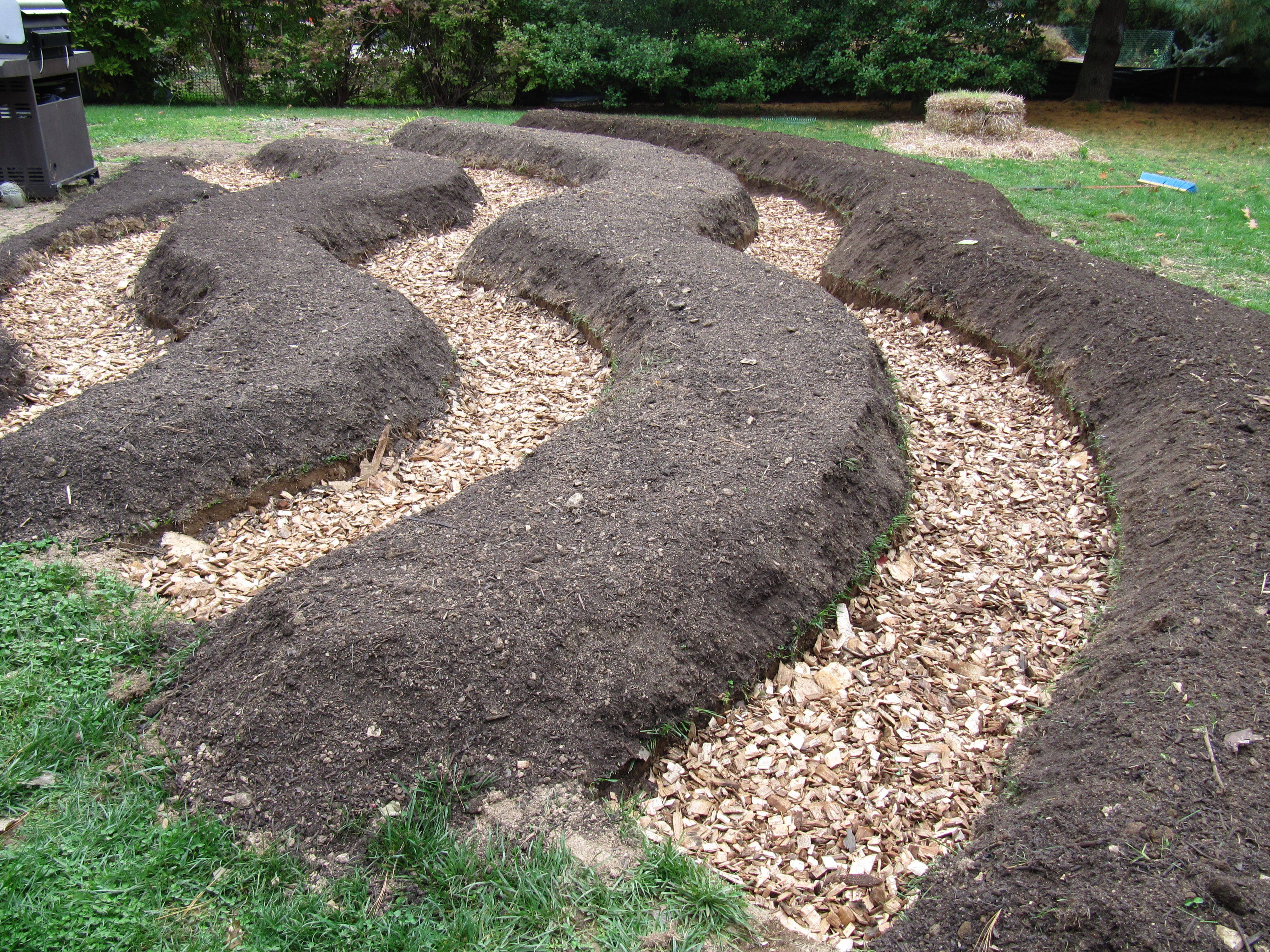 Growing A Vegetable Garden Raised Beds On Contour How To Layout A Garden  With Wood Chip Paths Organic Raised Beds, Simple Vegetable Beds Raised  Design ...
