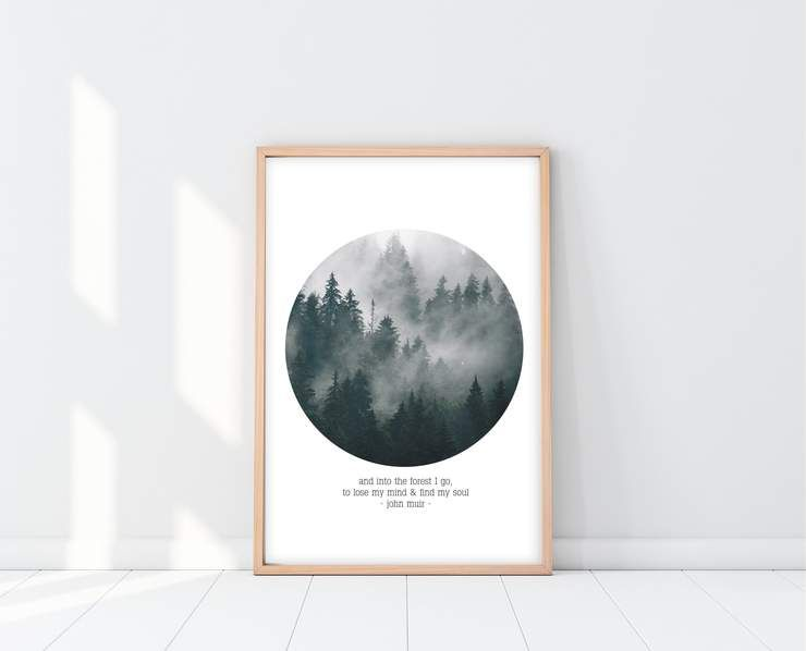 John Muir Quote Into The Forest I Go Print John Muir Quotes