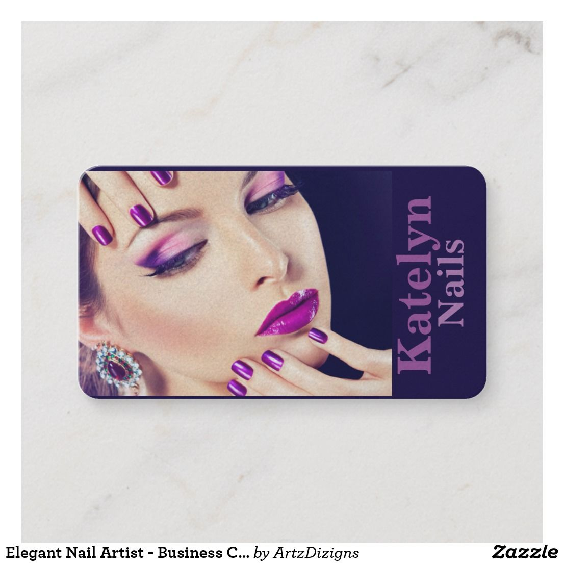 Elegant Nail Artist Business Cards Art
