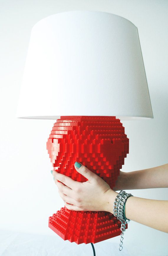 Lego Heart Lamp A Beautiful Lego Lamp Made With About 900 Bricks That Brings Colour And Joy In Any Interior Made En Lego Lamp Heart Lamp Make A Lamp