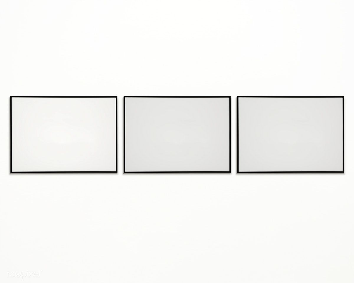 Download Premium Psd Of Three Photo Frames Isolated On White Wall 328112