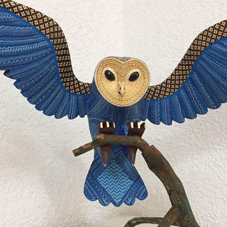 Angelico jimenez carrillo single piece barn owl u with ixtle fiber