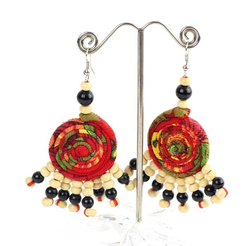 Handmade Women Vintage Long Earrings Chandelier Dangle Hoop Christmas Earrings #XH #ChandelierLongEarringsVintageEarrings