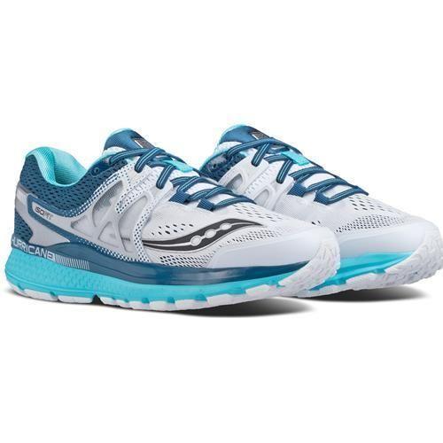 Saucony Women's Hurricane Iso 3 Running Shoes White Teal