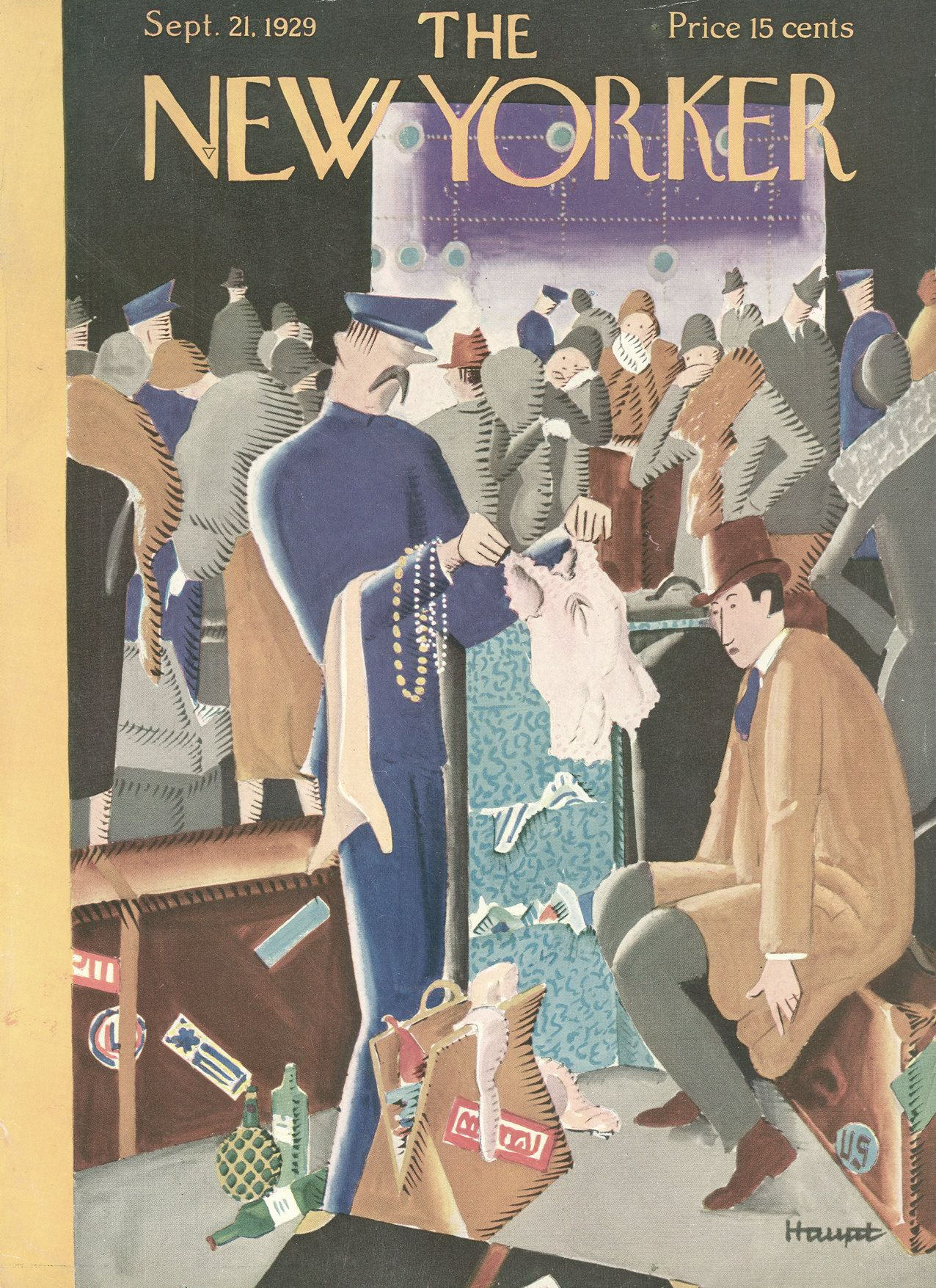 The New Yorker - Saturday, September 21, 1929 - Issue # 240 - Vol. 5 - N° 31 - Cover by : Theodore G. Haupt