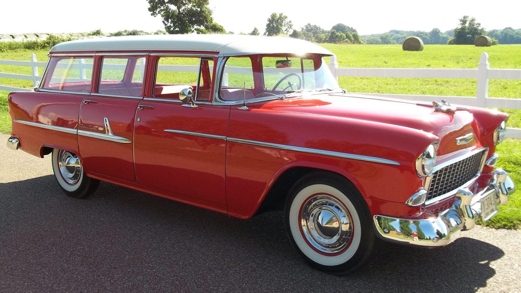 1955 Chevrolet Bel Air Station Wagon 265 2bbl V8 2sp Powerglide