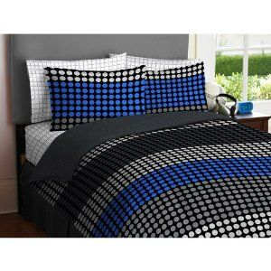 Tween Bedding Sets For Boys Boy Blue Gray Black Circle