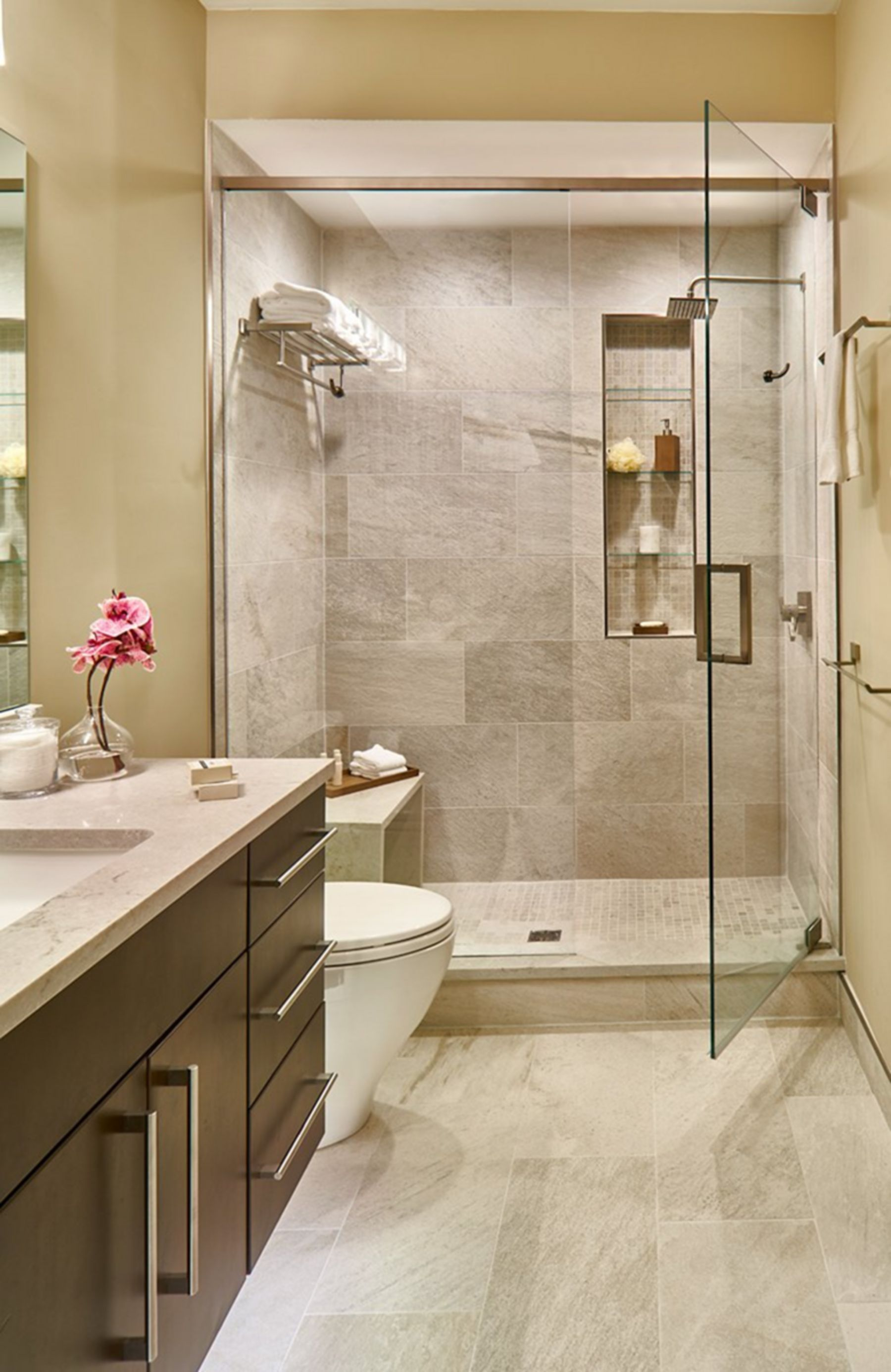30 Awesome Modern Small Bathroom Designs For Small Home Ideas Modern Small Bathrooms Latest Bathroom Designs Small Space Bathroom New home bathroom design