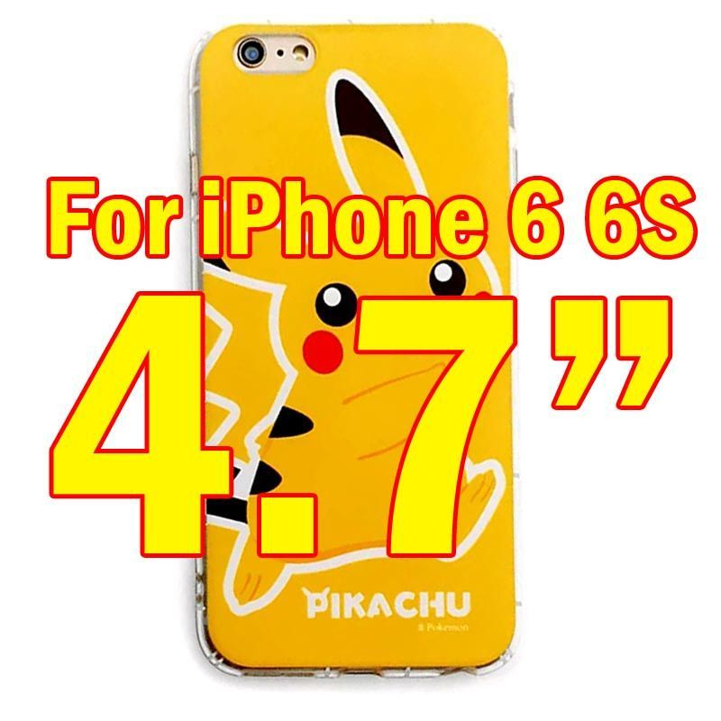 Pokemons PokeBall Transparent soft tpu Print Phone Case For iPhone 6 6S 6Plus Edge Lovely Poke Ball phone Cover