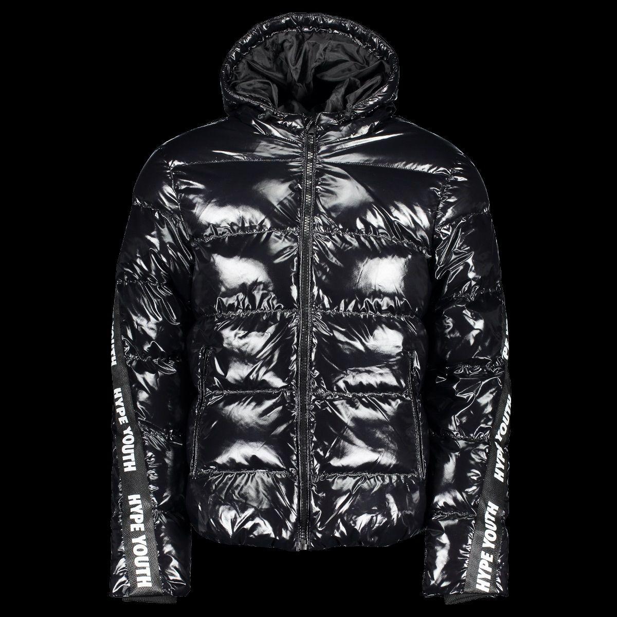 Hype Youth Shiny Black Puffer Jacket Black Puffer Jacket Shiny Jacket Puffer Jackets [ 1200 x 1200 Pixel ]