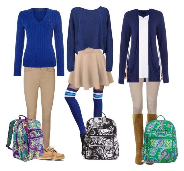 """3 cute school uniform ideas for the winter"" by ..."
